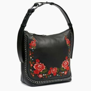 Calvin Klein Lianna Pebble Leather Embroidered Hob